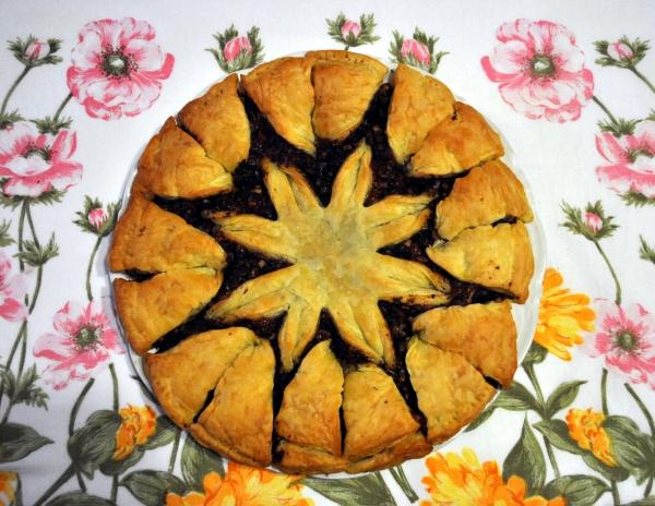 cake salé de Noël pâte feuilletée