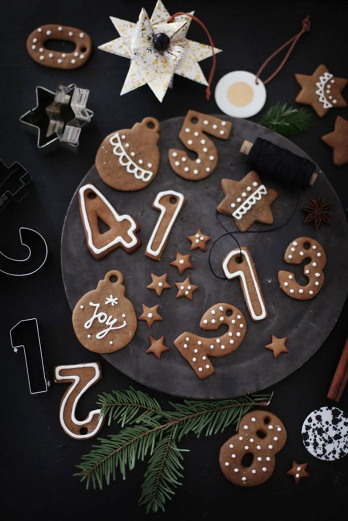calendrier de l'Avent homme biscuits