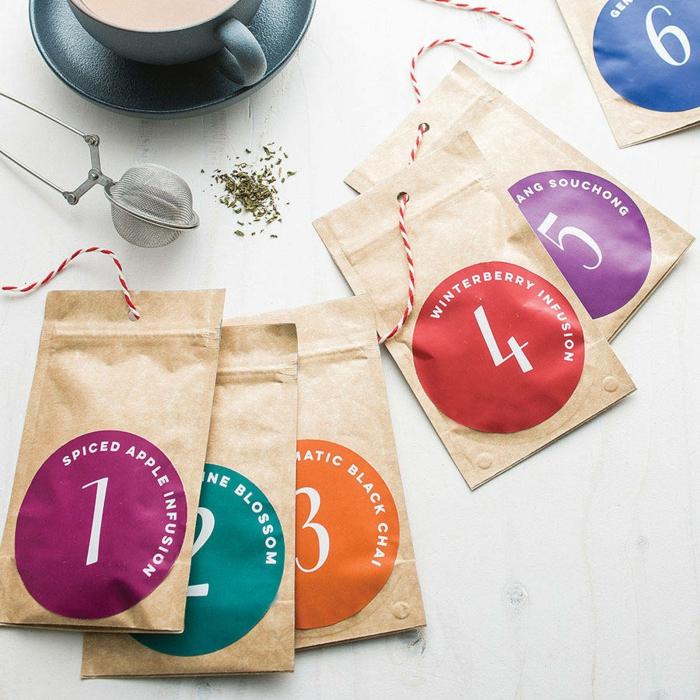 calendrier de l'Avent homme idée pour les amoureux de thé