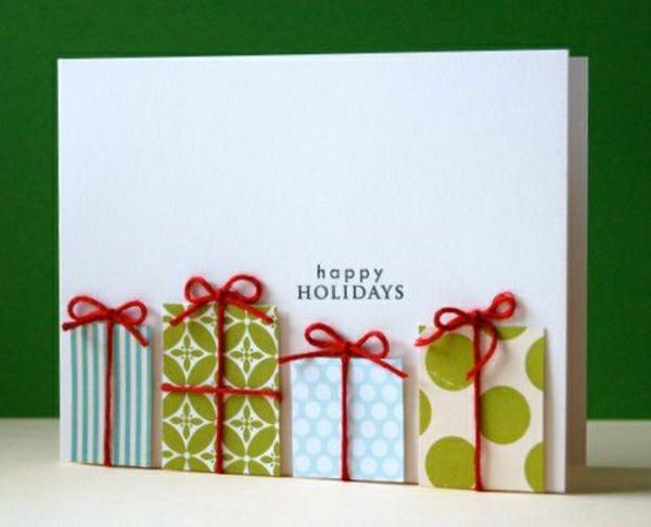 carte noël à faire soi-même cadeaux en papier