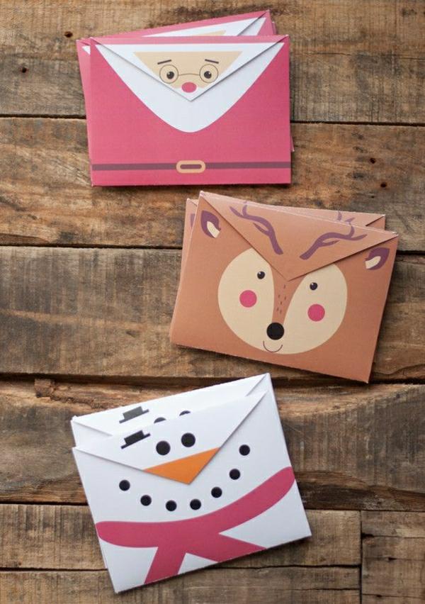 carte noël à faire soi-même enveloppe décorée