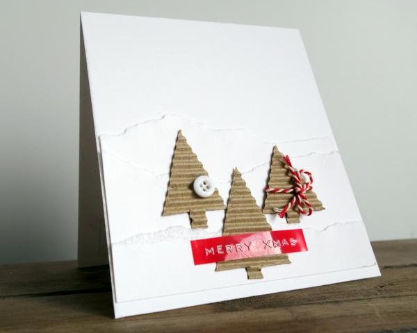 carte noël à faire soi-même papier carton ondulé