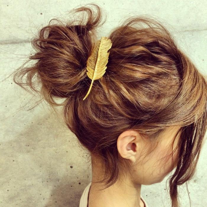 chignon flou coiffure facile
