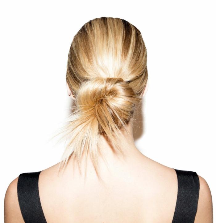 chignon flou coiffure femme tendance et facile