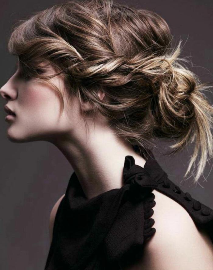 coiffure de soirée chignon flou