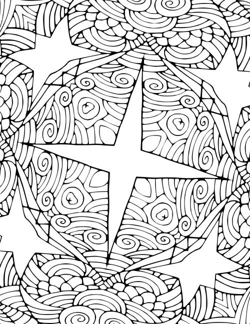 coloriage mandala Noël beaucoup de spirales