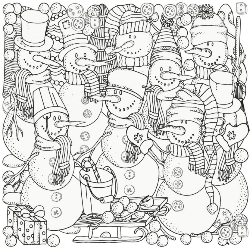 coloriage mandala Noël collaborateurs de Père Noël
