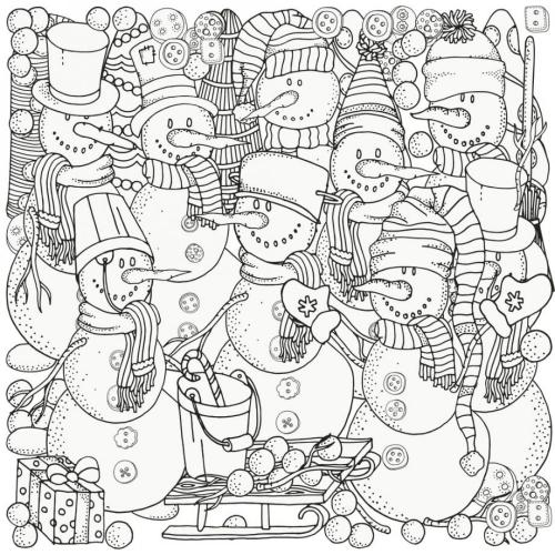 coloriage mandala Noël collaborateurs de Père Noël