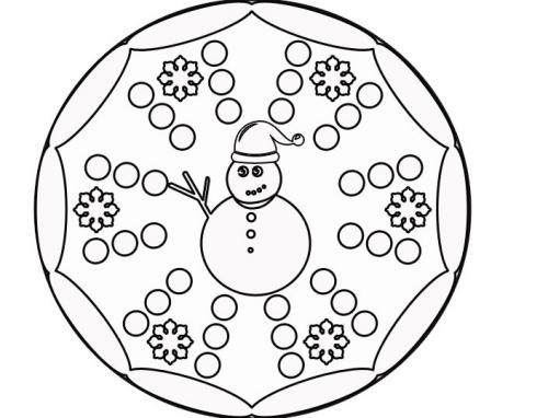 coloriage mandala Noël dessin facile