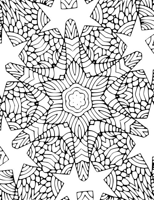 coloriage mandala Noël grande étoile au milieu