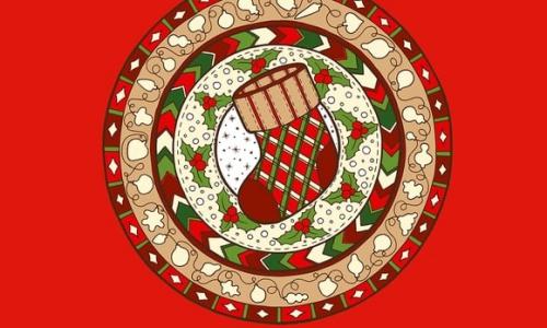 coloriage mandala Noël jolie chaussette