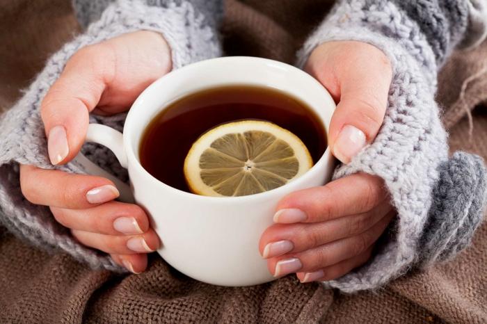 combattre le rhume avec du thé