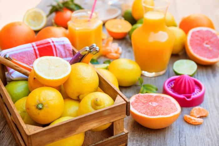 combattre le rhume avec jus de fruits