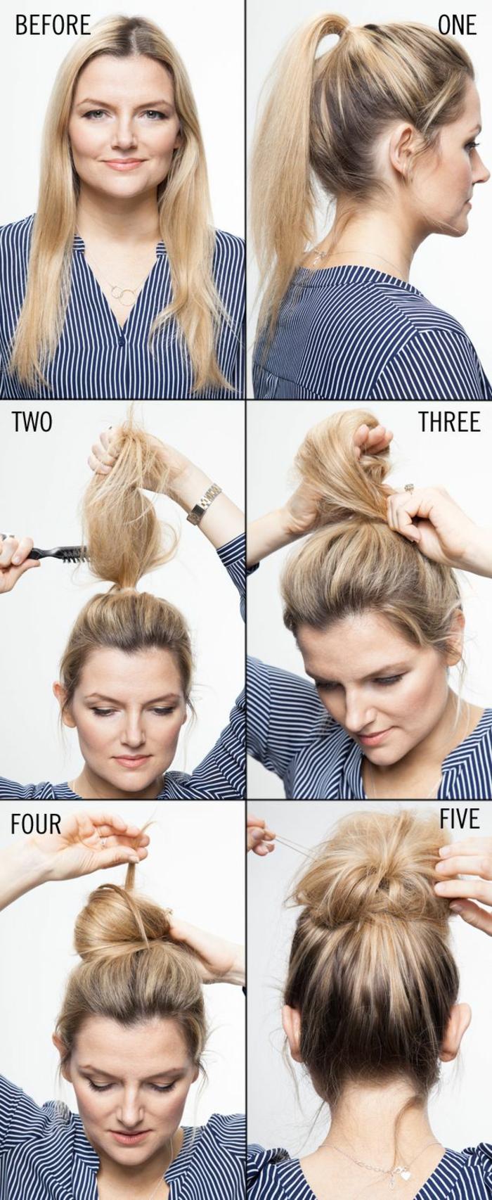 comment faire un chignon flou
