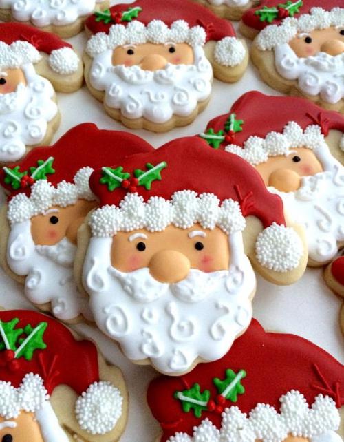 confiserie de Noël Pères Noël à goûter
