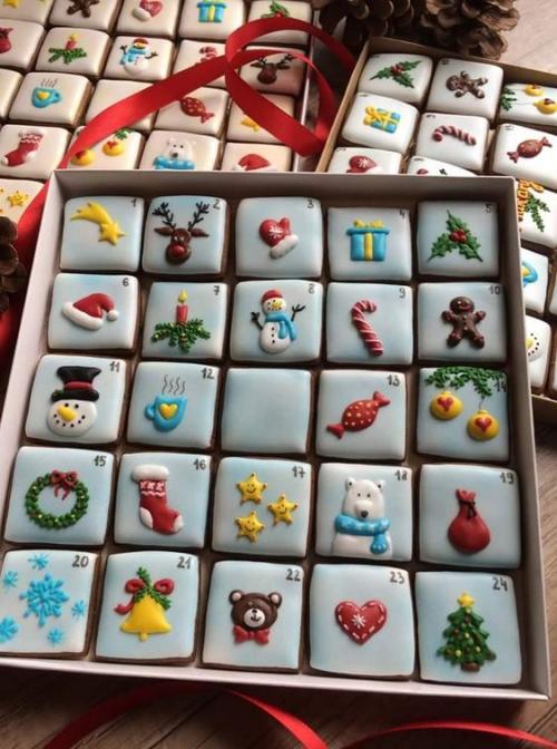 confiserie de Noël biscuits comme calendrier