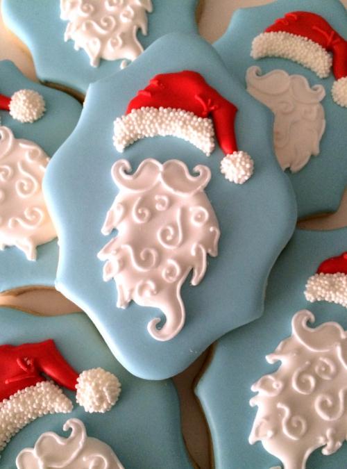 confiserie de Noël biscuits décorés comme Père Noël