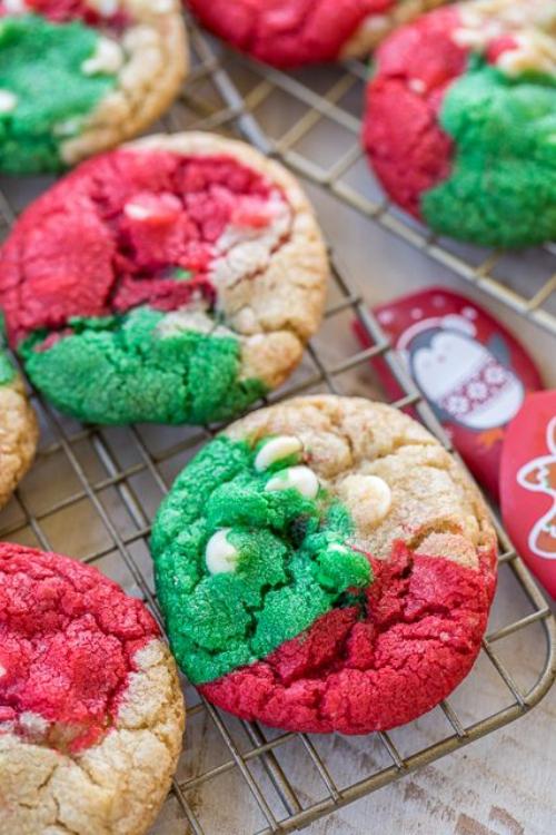 confiserie de Noël biscuits en trois couleurs