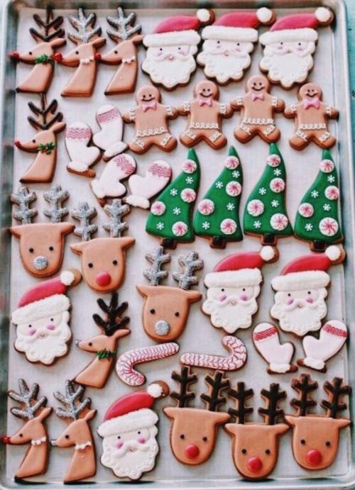 confiserie de Noël figures sympas