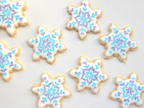 confiserie de Noël flocons de neige