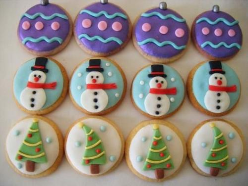 confiserie de Noël formes de médaillons