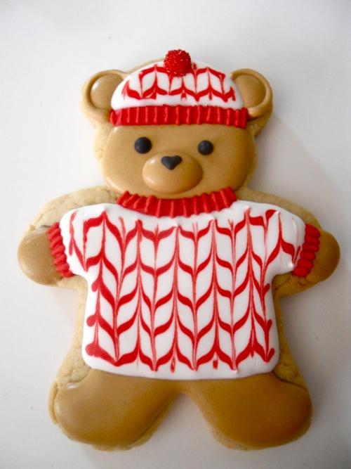 confiserie de Noël un ourson sympa
