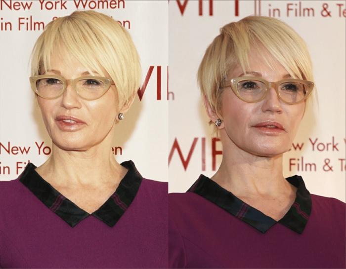 coupe cheveux courts femme 50 ans frange dégradée sur le côté