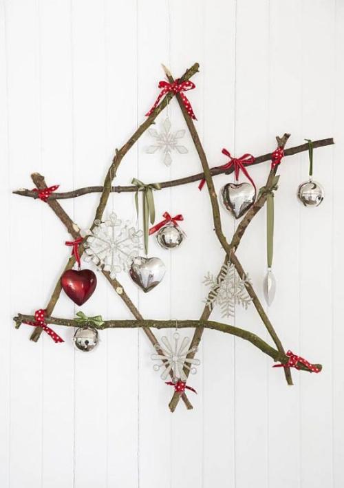 déco Noël scandinave étoile de branches