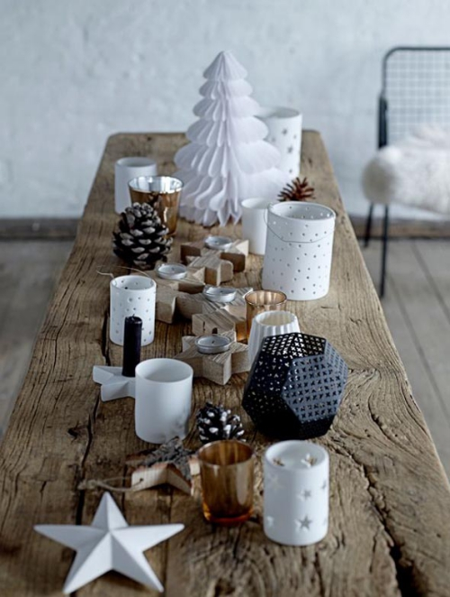 déco Noël scandinave arrangement de la table