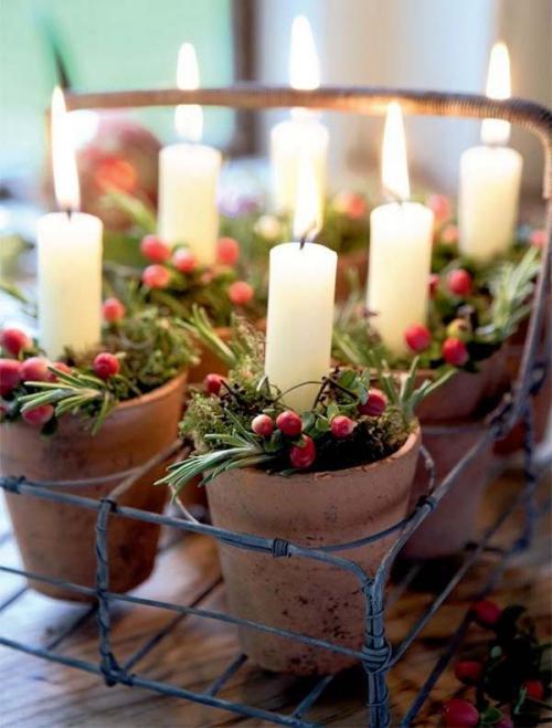 déco Noël scandinave baies roses