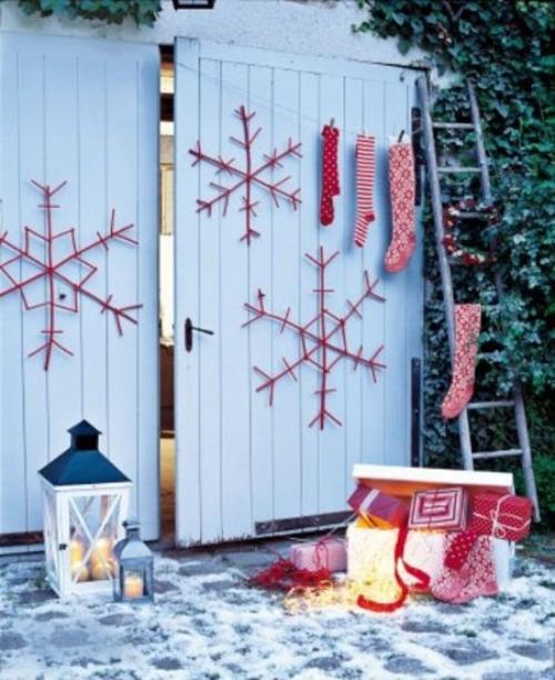 déco Noël scandinave décoration extérieure