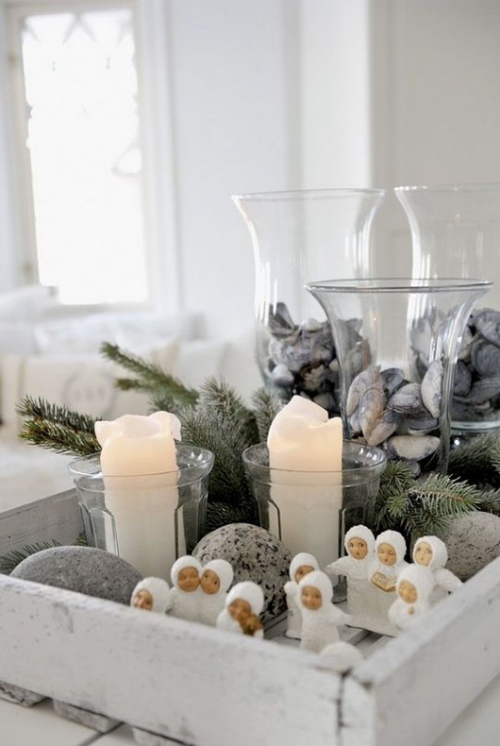 déco Noël scandinave figures amusantes