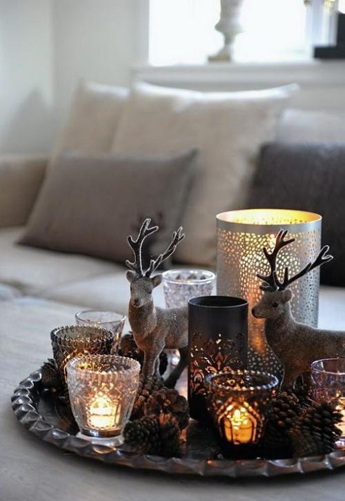 déco Noël scandinave jolis bougeoirs