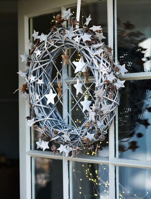 déco Noël scandinave petites étoiles scintillantes