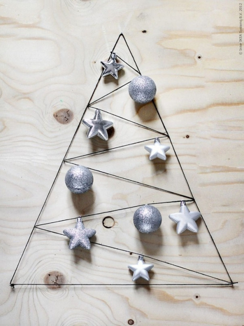 déco Noël scandinave sapin en fil métallique