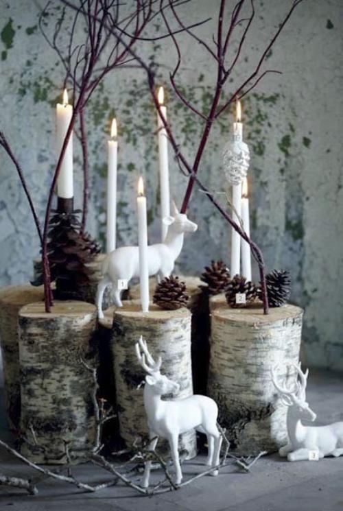 déco Noël scandinave scène de forêt