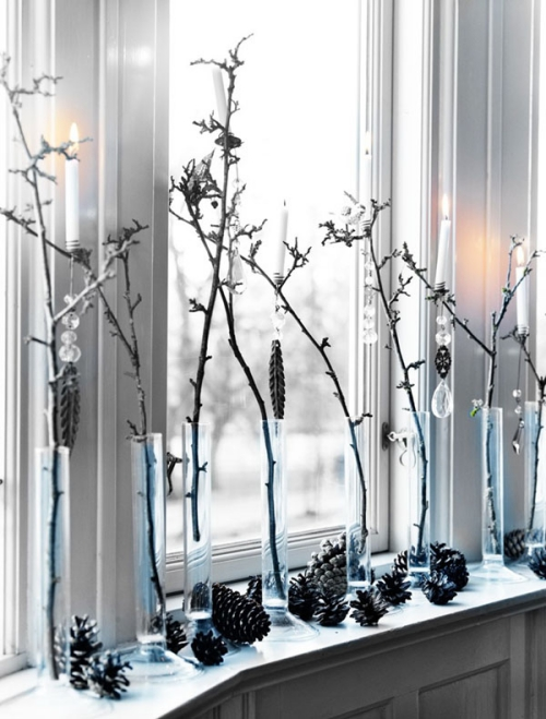 déco Noël scandinave style de décoration pour fenêtre