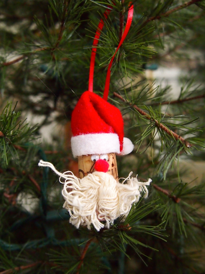 déco bouchon Noël Père Noël