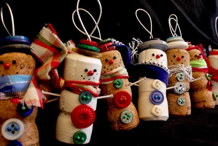 déco bouchon Noël boutons et bouchons