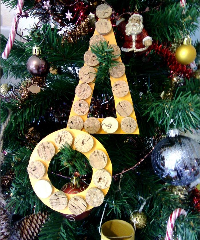 déco bouchon Noël couronne et sapin
