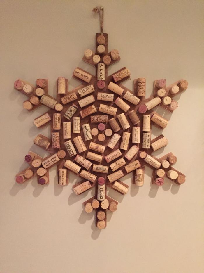 déco bouchon Noël décoration pour mur