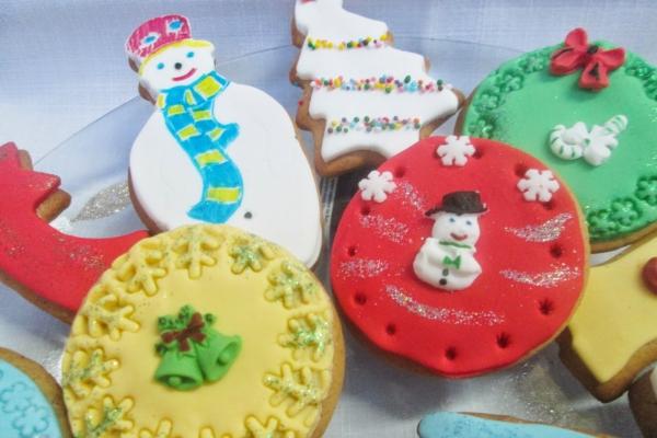 déco de Noël en pâte à sel figures rondes