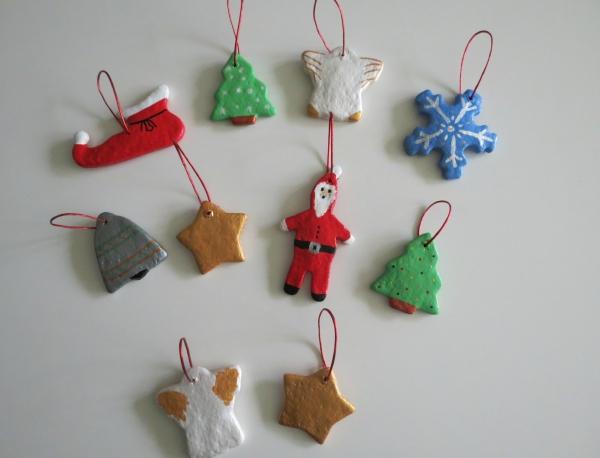 déco de Noël en pâte à sel figurines différentes