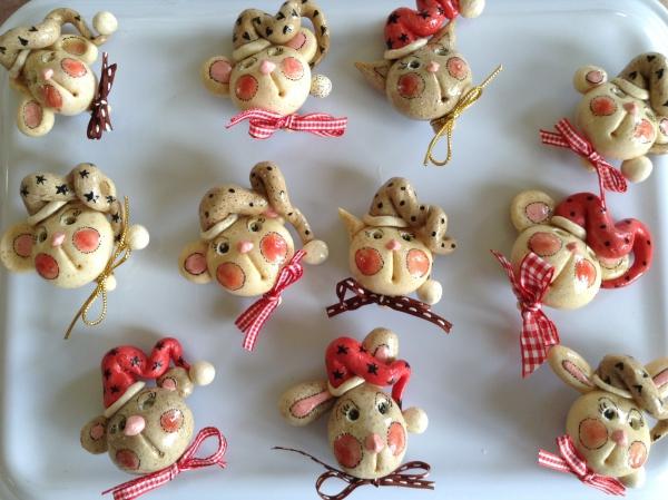 déco de Noël en pâte à sel petites bestioles