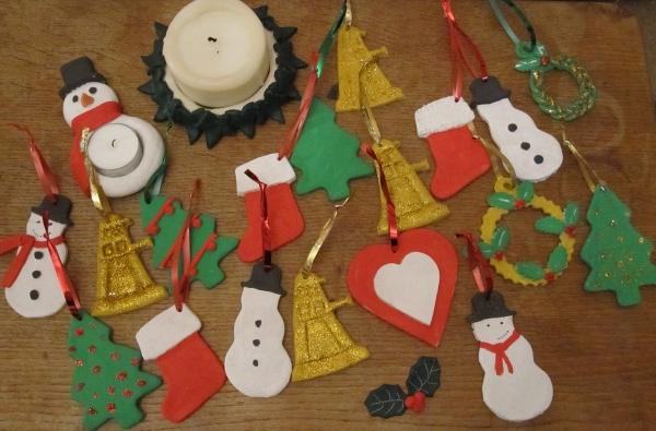déco de Noël en pâte à sel toutes sortes de figures