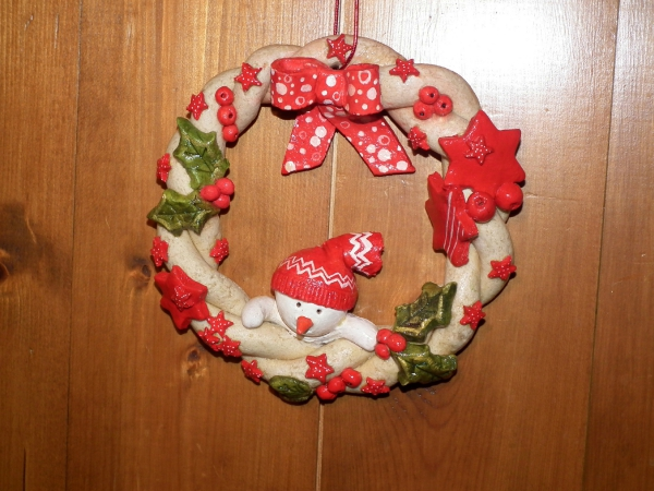 déco de Noël en pâte à sel une jolie couronne