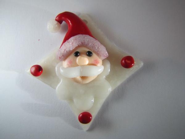 déco de Noël en pâte fimo Père Noël aux joues roses