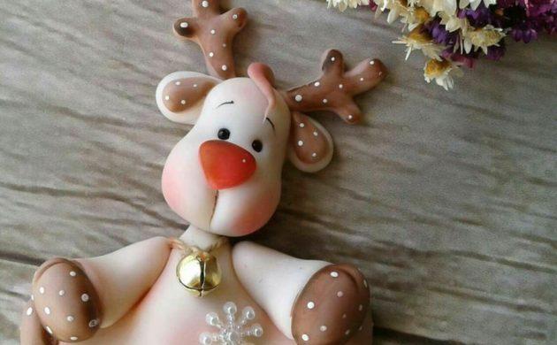 déco de Noël en pâte fimo