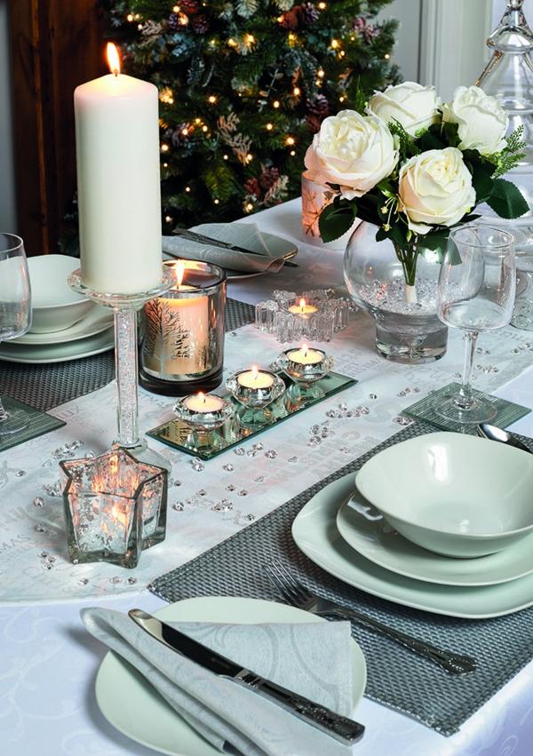 déco de table noël fleurs vivantes
