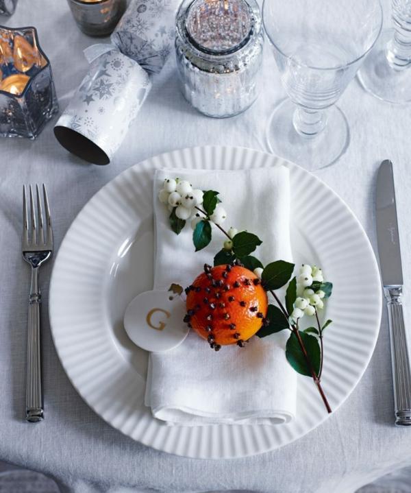 déco de table noël fruit et baies saisonnières